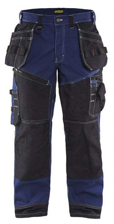 Blaklader X1500 1370 Xtreme Cotton Twill Trousers with Nail Pockets X1500 (Navy Blue/Black)